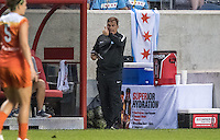 Bridgeview, IL - Saturday July 23, 2016:  Chicago Red Stars head coach Rory Dames during a regular season National Women's Soccer League (NWSL) match between the Chicago Red Stars and the Houston Dash at Toyota Park.
