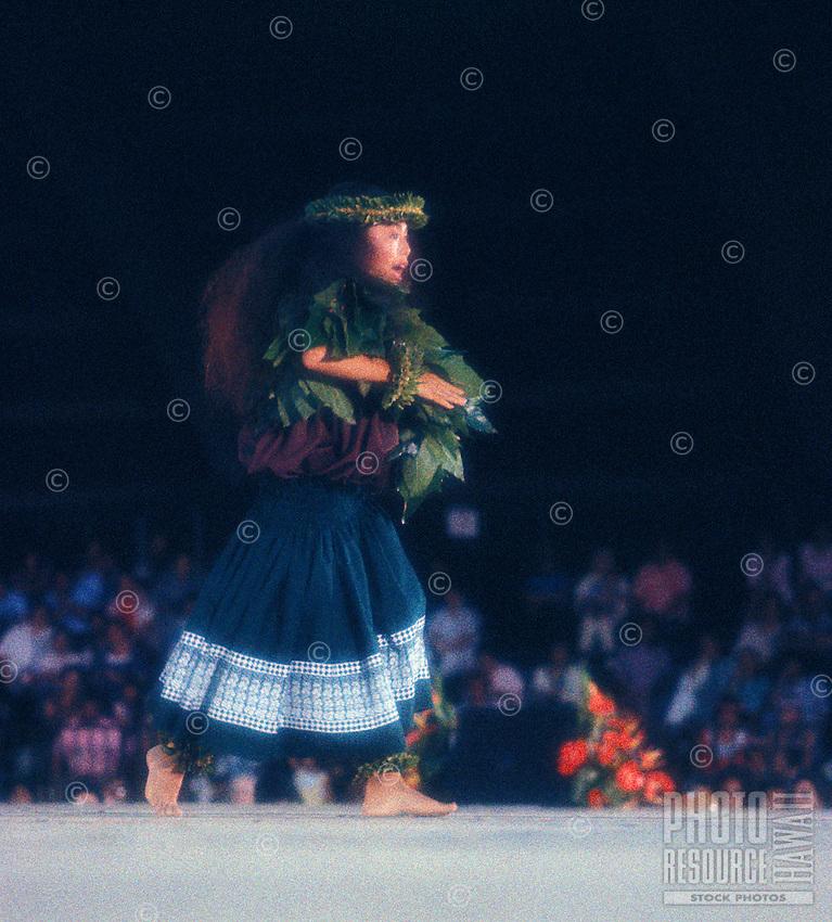 Lisa Doi, winner at the Merrie Monarch festival performing an ancient form of hula called Kahiko hula.  Kumu: Lum Ho