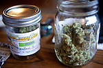 Jim Canady's medicinal marijuana delivered by Canny Bus, a nonprofit pot delivery service, to his Livermore, Calif. home January 11, 2011, ..CREDIT: Max Whittaker for The Wall Street Journal.Bay Area - Cannybus