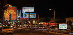 The Sunset Strip, West Hollywood, CA at night