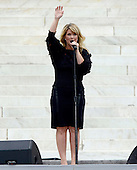 Natalie Grant performs at the Let Freedom Ring ceremony on the steps of the Lincoln Memorial to commemorate the 50th Anniversary of the March on Washington for Jobs and Freedom<br /> Credit: Ron Sachs / CNP