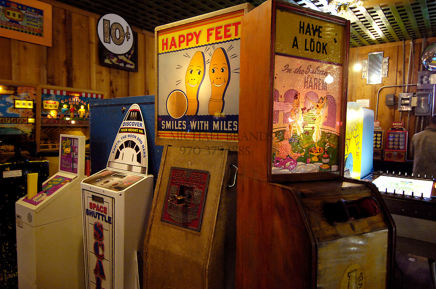 The Arcade in Manitou Springs has a phenomenal collection of machines, some date back to the early 20th century, many of which can still be played for a penny. Michael Brands for The New York Times.