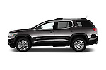 Car Driver side profile view of a 2018 GMC Acadia SLT-1-FWD 5 Door SUV Side View