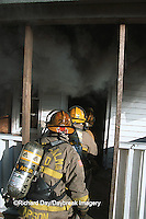 63818-01711 Firefighters entering burning house  Kinmundy-Alma Fire District,  Kinmundy IL