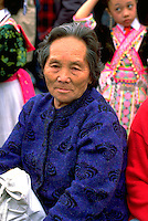Hmong woman at In the Heart of the Beast May Day Festival and Parade. Powderhorn Park Minneapolis  Minnesota USA