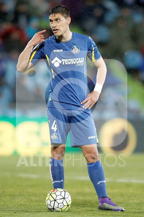 Getafe's Emiliano Velazquez during La Liga match. March 18,2016. (ALTERPHOTOS/Acero)