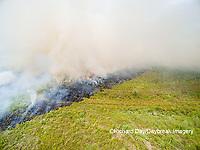 63863-02708 Summer prairie burn Prairie Ridge State Natural Area - aerial - Marion Co. IL