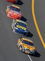Apr 29, 2007; Talladega, AL, USA; Nascar Nextel Cup Series driver Matt Kenseth (17) leads Jeff Green (66) and Jeff Gordon (24) during the Aarons 499 at Talladega Superspeedway. Mandatory Credit: Mark J. Rebilas