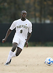 02 December 2007: Wake Forest's Marcus Tracy. The Wake Forest University Demon Deacons defeated the West Virginia University Mountaineers 3-1 at W. Dennie Spry Soccer Stadium in Winston-Salem, North Carolina in a Third Round NCAA Division I Mens Soccer Tournament game.