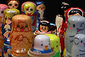 May 15, 2010 - Tokyo, Japan - Russian hand-made dolls are pictured at Design Festa at Tokyo Big Sight in Tokyo, Japan, on May 15 2010. The biannually International Art Event that began in 1994 runs from May 15-16, and gives to nearly 8,500 artists working in a variety of mediums an opportunity to showcase their work.