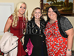 Michelle Hutchinson, Pamela Whyte and Ciara Morgan pictured at the GAA dinner dance in the Boyne Valley hotel. Photo:Colin Bell/pressphotos.ie