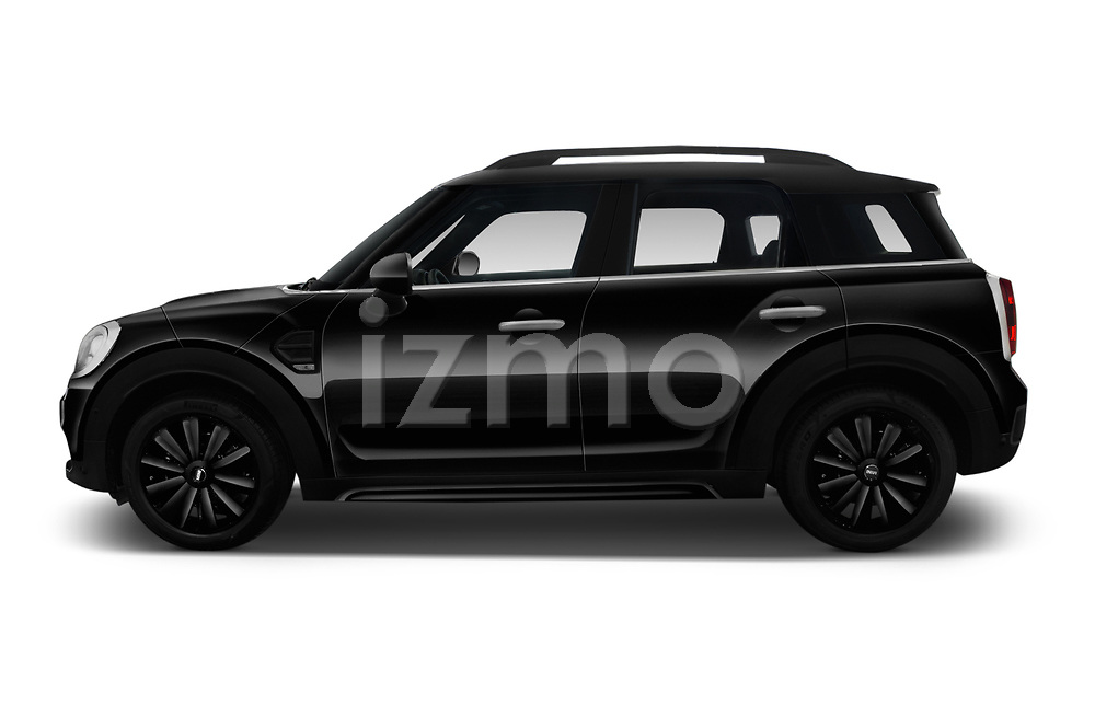 Car driver side profile view of a 2018 Mini Countryman Oakwood 5 Door Hatchback