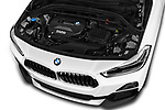 Car Stock 2018 BMW X2 Premiere 5 Door SUV Engine  high angle detail view