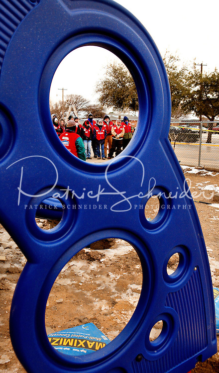 Photography of Arlington, Texas based Lowe's associates taking part in the Rebuilding Together project in the neighborhood  surrounding Speer Elementary School in Arlington, Texas.