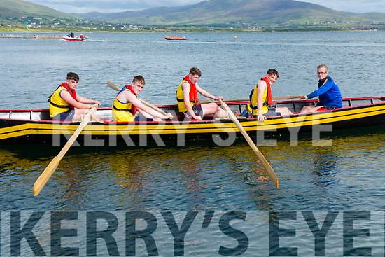The Boys U16 crew from Callinafercy who took first place at the Valentia Regatta on Monday pictured l-r; Cormac Doyle, Aidan McCarthy, Niall Murphy, Nathan Houlihan & Cox Kieran O'Sullivan.