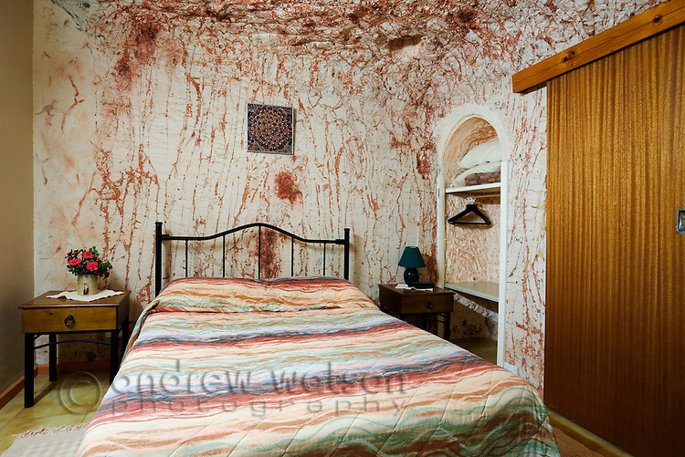 Underground room at Radeka's Downunder Dugout Motel - Coober Pedy, South Australia, AUSTRALIA.