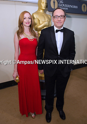 "HEATHER GRAHAM AND KEVIN SPACEY.2010 Governors Awards,Grand Ballroom at Hollywood & Highland,Hollywood, Los Angeles_14/11/2010.Mandatory Photo Credit: ©Harbaugh/Newspix International..**ALL FEES PAYABLE TO: ""NEWSPIX INTERNATIONAL""**..PHOTO CREDIT MANDATORY!!: NEWSPIX INTERNATIONAL(Failure to credit will incur a surcharge of 100% of reproduction fees)..IMMEDIATE CONFIRMATION OF USAGE REQUIRED:.Newspix International, 31 Chinnery Hill, Bishop's Stortford, ENGLAND CM23 3PS.Tel:+441279 324672  ; Fax: +441279656877.Mobile:  0777568 1153.e-mail: info@newspixinternational.co.uk"