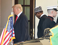 United States President Donald J. Trump welcomes President Muhammadu Buhari of Nigeria to the White House in Washington, DC on Monday, April 30, 2018.<br /> Credit: Ron Sachs / CNP /MediaPunch