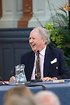 Alexander McCall Smith at the Sheldonian Theatre during the Sunday Times Oxford Literary Festival, UK, 16 - 24 March 2013.<br />