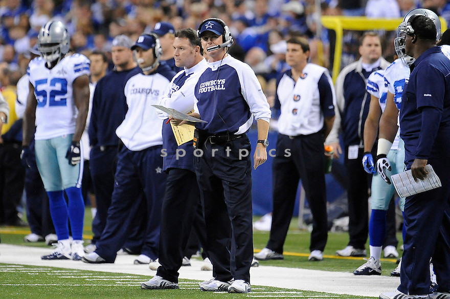 JASON GARRETT, of the Dallas Cowboys in action during the Cowboys game against the Indianapolis Colts on December 5, 2010 at Lucas Oil Stadium in Indianapolis, Indiana...Cowboys beat the Colts 38-35 in overtime.
