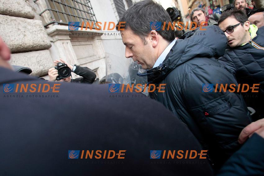 Matteo Renzi<br /> Roma 13/02/2014 Direzione del Partito Democratico.<br /> Photo Samantha Zucchi Insidefoto