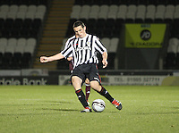 John McGinn in the St Mirren v Heart of Midlothian Clydesdale Bank Scottish Premier League U20 match played at St Mirren Park, Paisley on 6.11.12.