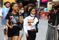 People in London continue living daily life under the 'new normal' following the lockdown during Covid-19 crisis. Many things appear back to nearly normal with the added social distancing and facemask precautions. London Saturday August 22nd 2020<br /> <br /> Photo by Keith Mayhew