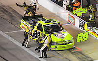 Nov. 6, 2009; Fort Worth, TX, USA; NASCAR Camping World Truck Series driver Matt Crafton pits during the WinStar World Casino 350 at the Texas Motor Speedway. Mandatory Credit: Mark J. Rebilas-