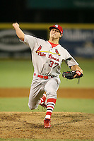 April 13, 2009:  Pitcher Thomas Eager (37) of the Palm Beach Cardinals, Florida State League Class-A affiliate of the St. Louis Cardinals, delivers a pitch during a game at Hammond Stadium in Fort Myers, FL.  Photo by:  Mike Janes/Four Seam Images