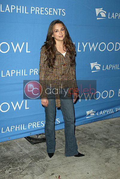 Rachel Leigh Cook<br /> at the Los Angeles Philharmonic's &quot;A Night At The Copa&quot;. Hollywood Bowl, Hollywood, CA. 09-10-05<br />Dave Edwards/DailyCeleb.Com 818-249-4998