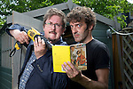 May0070879 . Daily Telegraph<br /> <br /> Features<br /> <br /> Comedy Writers Jason Hazeley and Joel Morris, the men behind the parody Ladybird books .<br /> <br /> London 10 June 2016