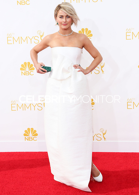 LOS ANGELES, CA, USA - AUGUST 25: Actress Julianne Hough arrives at the 66th Annual Primetime Emmy Awards held at Nokia Theatre L.A. Live on August 25, 2014 in Los Angeles, California, United States. (Photo by Celebrity Monitor)