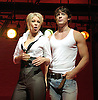 Rent <br /> at the at the Duke of York's Theatre, London, Great Britain<br /> press photocall<br /> October 11, 2007<br /> Denise Van Outen (as Maureen) <br /> Oliver Thornton (as Mark) <br /> Francesca Jackson (as Joanne)<br /> and company<br /> Photograph by Elliott Franks