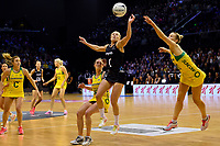 Silver Ferns&rsquo; Laura Longman in action during the International Netball Constellation Cup - NZ Silver Fans v Australia Diamonds at TSB Bank Arena, Wellington, New Zealand on Thursday 18 October  2018. <br /> Photo by Masanori Udagawa. <br /> www.photowellington.photoshelter.com