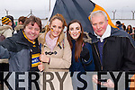 PJ Houlihan, Jane Crean, Zelika Brown and Jerome Crean Austin Stacks supporters at the Austin Stacks v Slaughtneil All Ireland Club Football Semi Final in Portlaoise on Sunday.