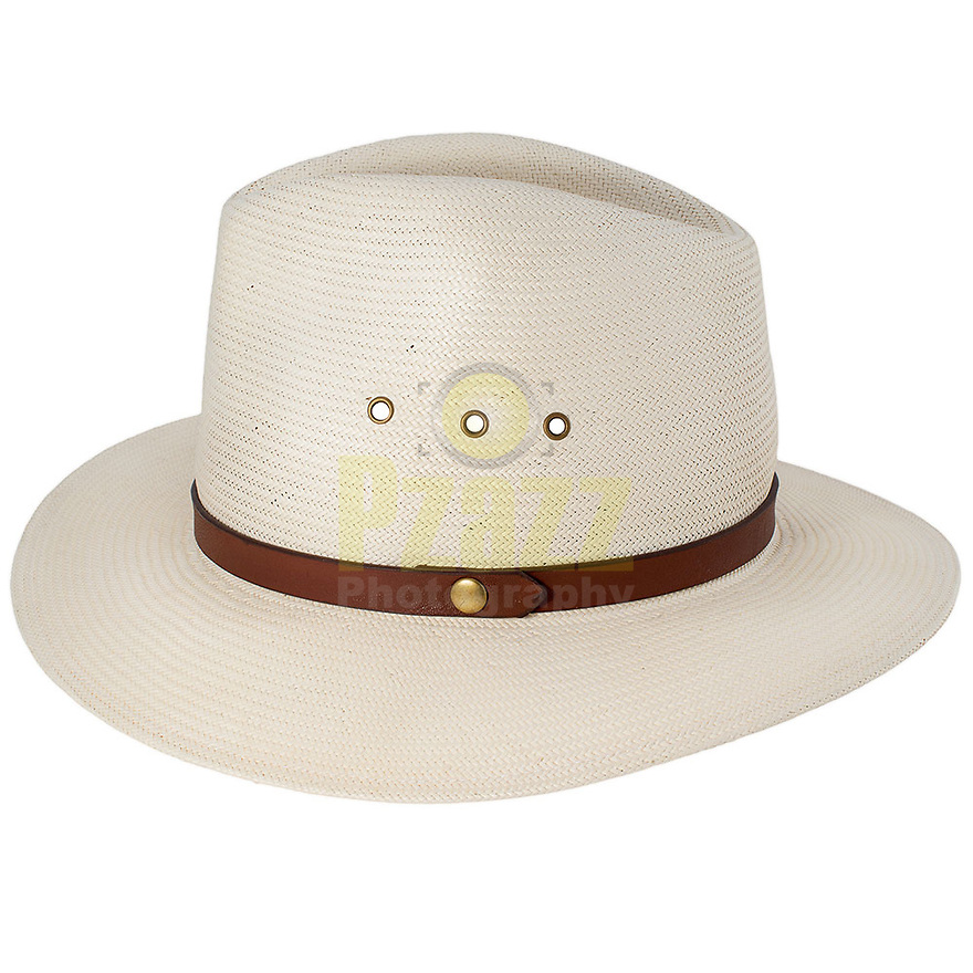 Product packshot of White Hat with Brown Ribbon