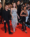 "(L-R)Maddox Jolie-Pitt, Angelina Jolie and Zahara Marley Jolie-Pitt attend the Japan premiere for ""Maleficent: Mistress of Evil"" at Roppongi Hills Arena in Tokyo, Japan on October 3, 2019. (Photo by AFLO)"