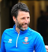 Lincoln City manager Danny Cowley during the pre-match warm-up<br /> <br /> Photographer Andrew Vaughan/CameraSport<br /> <br /> The EFL Sky Bet League Two Play Off First Leg - Lincoln City v Exeter City - Saturday 12th May 2018 - Sincil Bank - Lincoln<br /> <br /> World Copyright &copy; 2018 CameraSport. All rights reserved. 43 Linden Ave. Countesthorpe. Leicester. England. LE8 5PG - Tel: +44 (0) 116 277 4147 - admin@camerasport.com - www.camerasport.com