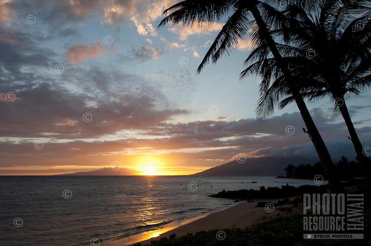 Sunset at Cove Park, Kihei, Maui.