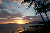 Sunset at Cove Park, Kihei, Maui.