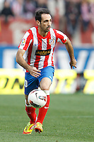 22.04.2012 MADRID, SPAIN - La Liga 11/12 match played between At. Madrid vs R.C.D. Espanyol (3-1) at Vicente Calderon stadium. the picture show Juan Francisco Torres (Spanish midfielder of At. Madrid)