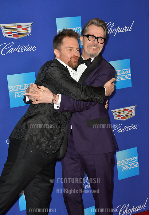 Sam Rockwell &amp; Gary Oldman at the 2018 Palm Springs Film Festival Awards at Palm Springs Convention Center, USA 02 Jan. 2018<br /> Picture: Paul Smith/Featureflash/SilverHub 0208 004 5359 sales@silverhubmedia.com