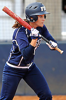 11 February 2012:  FIU's Kayla Burri (7) bats as the University of Louisville Cardinals defeated the FIU Golden Panthers, 4-2, as part of the COMBAT Classic at the FIU Softball Complex in Miami, Florida.