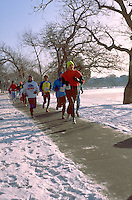 Winter race around Lake Harriet. Minneapolis Minnesota USA