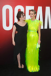 Helena Bonham Carter (left) and Sarah Paulson arrive at the World Premiere of Ocean's 8 at Alice Tully Hall in New York City, on June 5, 2018.