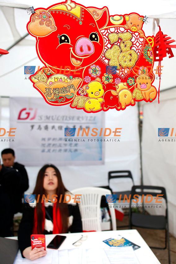 Rome February 10th 2019. Celebrations for Chinese New Year 2019 in Rome. This year begins the year of the pig.<br /> Foto Samantha Zucchi Insidefoto