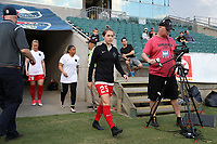 Cary, NC - Saturday April 22, 2017: Meghan Klingenberg prior to a regular season National Women's Soccer League (NWSL) match between the North Carolina Courage and the Portland Thorns FC at Sahlen's Stadium at WakeMed Soccer Park.