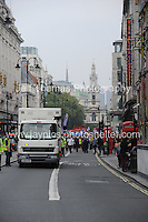 Peoples March for the NHS - Central London, Saturday 6th Sept 2014 - <br /> <br /> The Peoples March for the NHS enter The Strand in Central London. <br /> <br /> <br /> <br /> <br /> Photographer: Jeff Thomas - Jeff Thomas Photography - 07837 386244/07837 216676 - www.jaypics.photoshelter.com - swansea1001@hotmail.co.uk