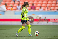 Houston, TX - Saturday May 13, Sky Blue FC goalkeeper Kailen Sheridan (1) during a regular season National Women's Soccer League (NWSL) match between the Houston Dash and Sky Blue FC at BBVA Compass Stadium. Sky Blue won the game 3-1.