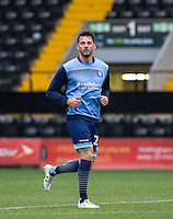 Max Muller of Wycombe Wanderers before the Sky Bet League 2 match between Notts County and Wycombe Wanderers at Meadow Lane, Nottingham, England on 10 December 2016. Photo by Andy Rowland.